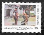 Stamps Argentina -  1822 - Cuadro de la artista Adriana Zaefferer