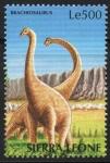 Stamps : Africa : Sierra_Leone :  BRACHIOSAURUS