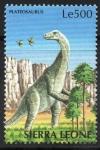 Stamps : Africa : Sierra_Leone :  PLATEOSAURUS