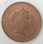monedas de Europa - Reino Unido -  1998 - one penny