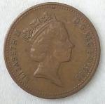 monedas de Europa - Reino Unido -  1988 - one penny