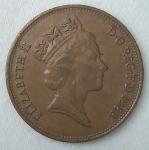 monedas de Europa - Reino Unido -  1988 two pence