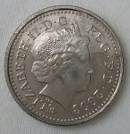 monedas de Europa - Reino Unido -  2003 five pence
