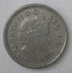 monedas de Europa - Reino Unido -  2001 five pence