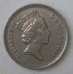 monedas del Mundo : Europa : Reino_Unido :  1992 five pence