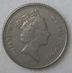 monedas de Europa - Reino Unido -  1991 five pence