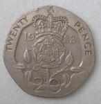 monedas de Europa - Reino Unido -  1983 twenty pence