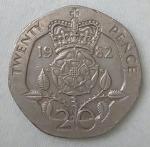 monedas de Europa - Reino Unido -  1982 twenty pence