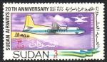 Stamps : Africa : Sudan :  FOKKER  DE  LA  AMISTAD
