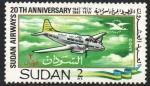 Stamps : Africa : Sudan :  PALOMA  DE  HAVILLAND
