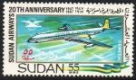 Stamps : Africa : Sudan :  COMETA  4-C  DE  HAVILLAND