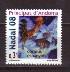 Stamps Andorra -  navidad
