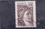 Stamps of the world : France :  Sabine de Gandon