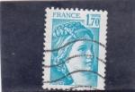 Stamps France -  Sabine de Gandon