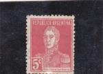 Stamps of the world : Argentina :  Gral. José de San Martín