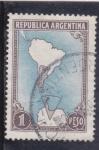 Sellos de America - Argentina -  mapa sudamerica