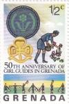 Sellos del Mundo : America : Granada : 50 aniversario de niñas guia en Grenada