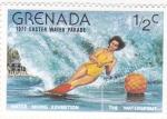 Sellos del Mundo : America : Granada : esquí acuatico