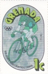 Stamps : America : Grenada :  Olimpiada Montreal,76- ciclismo