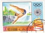 Stamps of the world : United Arab Emirates :  JUEGOS OLIMPICOS MUNICH,72
