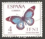 Stamps : Africa : Morocco :  ifni - 228 - Mariposa danaus chrysippus