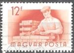 Sellos de Europa - Hungría -  Trabajadores húngaros.Albañil.