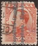 Sellos de Europa - España -  Alfonso XIII con sobrestampación República Española  1931 50 céntimos