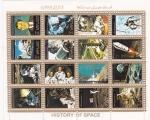 Stamps : Asia : United_Arab_Emirates :  AERONAUTICA- HISTORIA DEL ESPACIO
