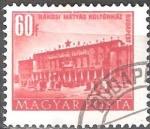 Sellos de Europa - Hungría -  Edificios del plan quinquenal en Budapest,Casa de Cultura de Rákosi.