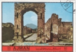 Stamps of the world : United Arab Emirates :  POMPEYA- ARCO DE NERO