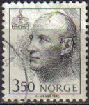 Stamps : Europe : Norway :  NORUEGA 1993 Scott 1008 Sello Serie Basica Rey HARALD V Usado