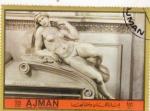 Stamps United Arab Emirates -  MICHELANGELO- SONRISA