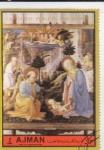 sellos de Asia - Emiratos Árabes Unidos -  ADORACIÓN AL NIÑO