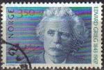 Stamps Norway -  NORUEGA 1993 Scott 1038 Sello Personajes EDVARD GRIEG Usado