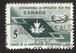 Stamps Canada -  Año de Cooperación Internacional, 1965