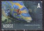 Stamps : Europe : Norway :  NORUEGA 2006 Sello Fauna Marina Pez Labrus, BIMACULATUS GALLANO, Gallito Rey Usado
