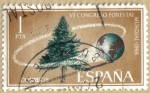 Stamps : Europe : Spain :  VI Congreso Forestal Mundial