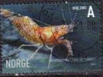 Stamps : Europe : Norway :  NORUEGA 2007 Sello Vida Marina Marisco Gamba Camaron Pandalus montagui Usado