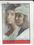 Stamps United Arab Emirates -  RAFFAELLO-LA ESCUELA DE ATENAS