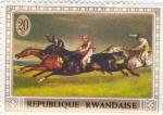 Sellos del Mundo : Africa : Rwanda : CARRERA DE CABALLOS