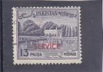 Sellos de Asia - Pakistán -  JARDINES DE SHALIMAR EN LAHURE-service