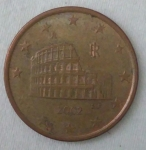 monedas de Europa - Italia -  2002 - 5 centavos euro