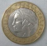 monedas de Europa - Italia -  1998 - L 1000