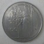 monedas de Europa - Italia -  1972 - L 100
