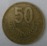 monedas de America - Costa Rica -  1999 - 50 colones