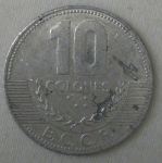 monedas de America - Costa Rica -  2005 - 10 colones