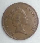monedas de Europa - Reino Unido -  1988 error repisado
