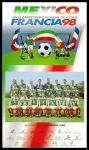 Stamps : America : Mexico :  México en el Campeonato Mundial de Futbol Francia 1998