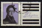 Stamps Poland -  Polonia 1975 Scott 2125 Sello * Musica Pianista Federico Chopin Varsovia Michel 2408 Matasellos de F