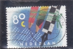 Sellos de Europa - Holanda -  LAPICES Y PLUMA